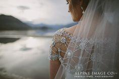 1920s Wedding Dress, New Zealand lakeside wedding by Alpine Image Company - http://blog.alpineimages.co.nz/blog/ - Wedding Planner www.boutiqueweddingsnz.com