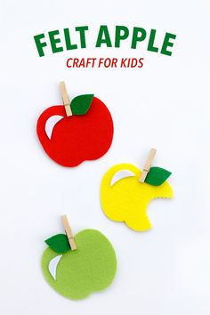 Sweet and simple, this Felt Apple Craft is fun for kids of all ages.