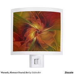 Warmth, Abstract Fractal Art Night Light