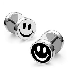 Cheap brinco masculino, Buy Quality fashion stud earrings directly from China stud earrings Suppliers: Kovtia fashion Titanium steel men's Stud Earring Smile Dumbbells Punk Jewelry Earrings brincos masculino Stud Earrings For Men, Cheap Earrings, Women's Earrings, Mens Earrings Studs, Grunge Jewelry, Punk Jewelry, Jewelry Accessories, Black Gold Jewelry, Copper Jewelry