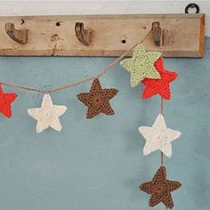 crochet star garland