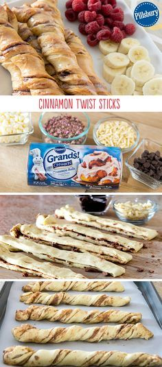 Make breakfast fun with these easy Cinnamon Twist Sticks! They come together in a snap with Pillsbury Grands! Cinnamon Rolls and are fun for the whole family. Have your kids help you prepare them in the morning. Happy eating!