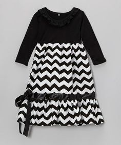 Take a look at this Black & White Zigzag Maxi Dress - Infant, Toddler & Girls by Royal Gem on #zulily today!