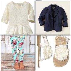A cute little girl outfit