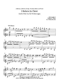 Pretty combination of I Believe In Christ and God Be with You Till We Meet Again, piano solo. Print Sheet Music, Sheet Music Pdf, Piano Teaching, Learning Piano, Lds Music, Till We Meet Again, Download Sheet Music, Church Music, Singing Time