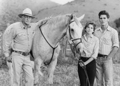 That time I found Jake Ryan from 16 Candles. Still of Melissa Gilbert, Michael Schoeffling and Richard Farnsworth in Sylvester (1985)