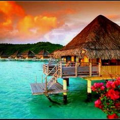 St. Regis Resort. Bora Bora. This is where Im going after winning the MegaMillion! favorite-places-spaces
