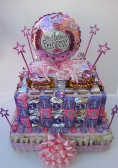 Princess Birthday Candy Cake