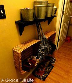 Interesting shoe storage idea