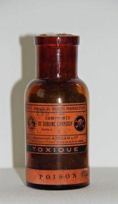 "shopoddities: ""Rare Antique Toxic Poison Bottle $333.00 """