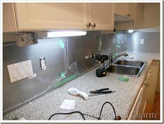 our low budget kitchen backsplash aluminum roof flashing