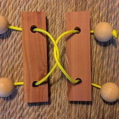 Rope Puzzle : 18 Steps (with Pictures) - Instructables Christmas Items, Christmas Projects, Crafts To Make, Fun Crafts, Whiskey Barrel Furniture, Woodworking Equipment, Woodworking Ideas, Diy Games, Backyard Games