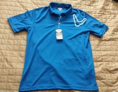Callaway men size M #POLO shirt NWT Magnetic Blue color Golf visit our ebay store at  http://stores.ebay.com/esquirestore