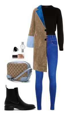 Street style by dalma-m on Polyvore featuring polyvore fashion style Helmut Lang Saks Potts CHARLES & KEITH Gucci Daniel Wellington Bobbi Brown Cosmetics clothing