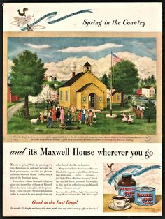1946 MAXWELL HOUSE Coffee Vintage Food AD Kitchen Decor Arbor Day 1 Room School