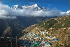 Namche Bazar - Sherpa capital of Nepal! Description from trekearth.com. I searched for this on bing.com/images
