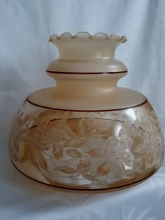 Your place to buy and sell all things handmade Replacement Glass Lamp Shades, Hurricane Lamp Shade, Nottingham Lace, Vintage Lamps, Rose Design, Napkins Set, Oil Lamps, Clear Glass, Iridescent