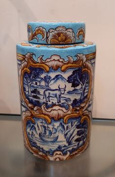 Medium Majolica Jar   framedwhitehaven Shop Interiors, Decorative Boxes, Jar, Fine Art, Medium, Stuff To Buy, Home Decor, Decoration Home, Room Decor