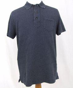 Ralph Lauren Double RL Shirt Large RRL Golf Polo 100% Cotton Blue VTG Textured #RalphLauren #PoloRugby