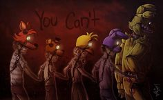 My very first serious FNAF art - although I've changed the purple guy's (whose name is Barney Miles in my AU) appearance a bit. I still like it, and I drew him and the kids several times. I'm also ...