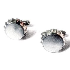 Silver Bottle Cap Cufflinks, Mens Handcrafted Beer Bar Restaurant Pub Party Beverage Cuff Links- Guy Groom Wedding Mans Gift from my Etsy shop https://www.etsy.com/listing/467127993/silver-bottle-cap-cufflinks-mens