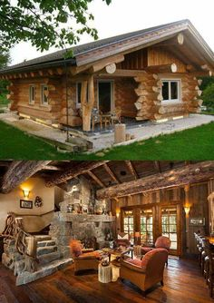 Beyond impressive, love this. ❤️ House Goals, Mountain Homes, Log Cabins, Log Cabin Homes, Barn Homes, Tiny House, Chalets, Building A House, Building Homes