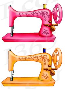 50% off sale Sewing Machine Clipart Sewing Machine Clip by I365Art