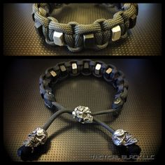 Paracord is durable, functional, and can hold 550lbs of pressure. Best of all it wont rot or mildew and stays comfortable. This bracelet comes