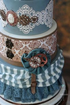 Steampunk Wedding Cake By Sweetlake Cakes — with April Wandtke.