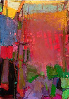 """September # 2 Brian Rutenberg 72"""" x 50"""", 2011 Oil on Linen"""