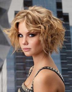 Funky Curly Hairstyle