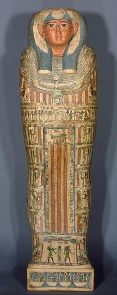 Inner Coffin of Djed Mut  ~ Egyptian Date: circa 715-525 B.C.E. North Carolina Museum of Art ~ http://centuriespast.tumblr.com/post/60165357431/inner-coffin-of-djed-mut-egyptian-date-circa