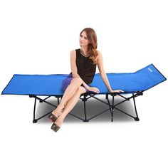 Portable Folding Chair Camping Seat Sun Loungers for home, office Break time Folding Bed Easy Storage Furniture
