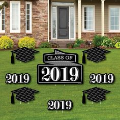 Graduation Cheers - Yard Sign & Outdoor Lawn Decorations - 2019 Graduation Party Yard Signs - Set of 8