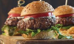 Ground Beef Sliders // What's a slider? It's a mini hamburger! Ours are made with Omaha Steaks premium juicy ground beef, perfectly formed into 2 oz. patties. The best part about these little burgers is that they're made for creativity - give each bite its own unique flavor! Sliders make great finger foods for parties or samplers for all your favorite sauces and toppings.  Shop now: http://www.omahasteaks.com/product/Ground-Beef-Sliders-8-2-oz-02520?ITMSUF=WZC?SRC=RZ0637