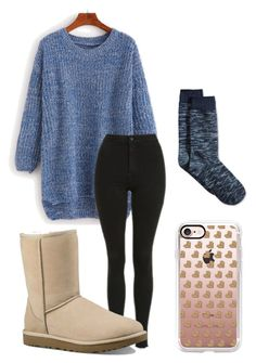 """""""Comfy & Cute☺️"""" by ccatee on Polyvore featuring Topshop, UGG Australia, Casetify and Hue"""