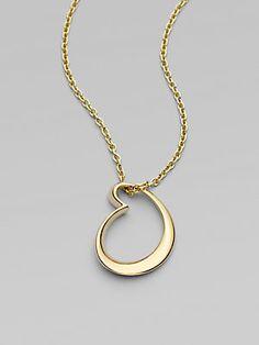 18K Yellow Gold Artist Heart Pendant Necklace