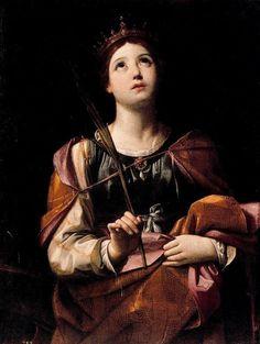 Guido Reni - St. Catherine of Alexandria IDENTICA CARA A LA DE S.SEBASTIAN¡¡¡