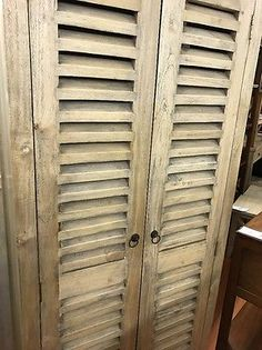 Mango Fruit Wood  timber hamptons louver door wardrobe linen press elm oak