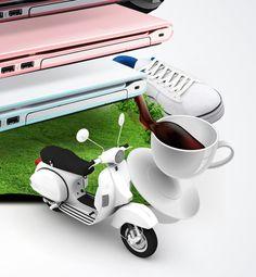 Sony Vaio (summer concept) by Agencja Kreatywna Pompidou , via Behance
