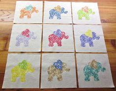 $11.95  Set of 9 Applique  6 x 6 Quilt Blocks by MarsyesShoppe on Etsy
