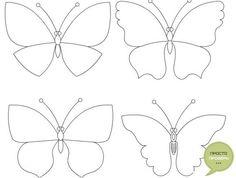Трафарет бабочки из бумаги