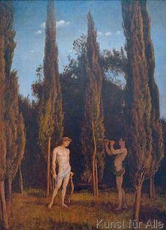 Hans Thoma - Apoll und Marsyas