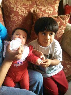 Con su sobrino Gonzalo