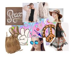 """Peace"" by tichia-b on Polyvore featuring moda, Casetify, Anya Hindmarch y Vintage Marquee Lights"
