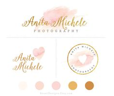 Watercolor Branding Package Premade Logo Design by ReaniDesigns