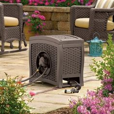 The Suncast Aquawinder Auto Rewind Hose Reel holds up to 125 ft. of hose and has water powered auto rewind. Black And Decker Toaster, Yard Cart, Retractable Hose, Garden Hose Holder, Water Powers, Hose Reel, Water Hose, Outdoor Furniture Sets, Outdoor Decor