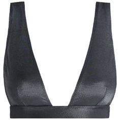 ZIMMERMANN Separates Wide Tri Bra Bikini Top ($120) ❤ liked on Polyvore featuring swimwear, bikinis, bikini tops and zimmermann
