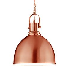 Industrial Pendant Lamp - Copper (150 x 31cm). Position this stunning copper hanging pendant lamp over your kitchen island or breakfast table for an on-trend industrial look.