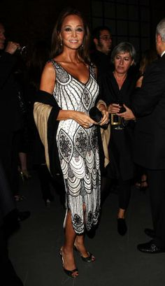 Isabel Preysler attend the TOD'S cocktail party during Milan Fashion Week at Via Savona, 56 on September 24, 2008 in Milan, Italy.